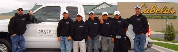Precision Manholes Crew from left to right: Brett Johnson, Dionicio Ramirez, Jose Luis Garciaz, Orbelin Perez,Adan Gonzalez,Luis Madrigal, Mike McGinnis
