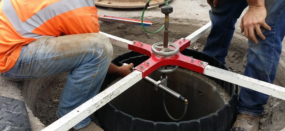 manhole risers radial arm trimmer