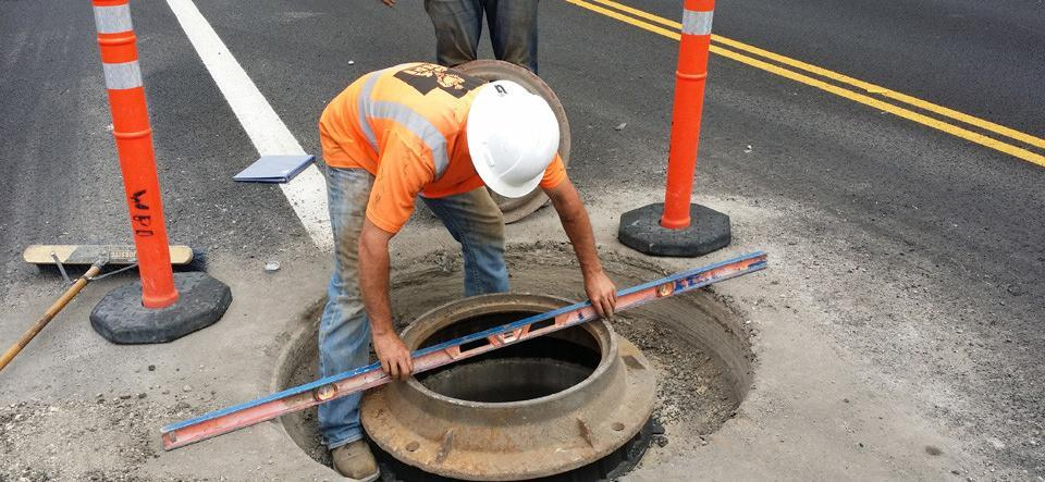manhole risers checking
